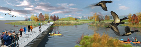 Minneapolis Riverfront Design Competition - Ken Smith Workshop